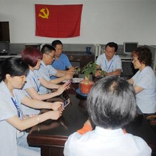 公司党委组织各支部党员收看《同上一堂课》